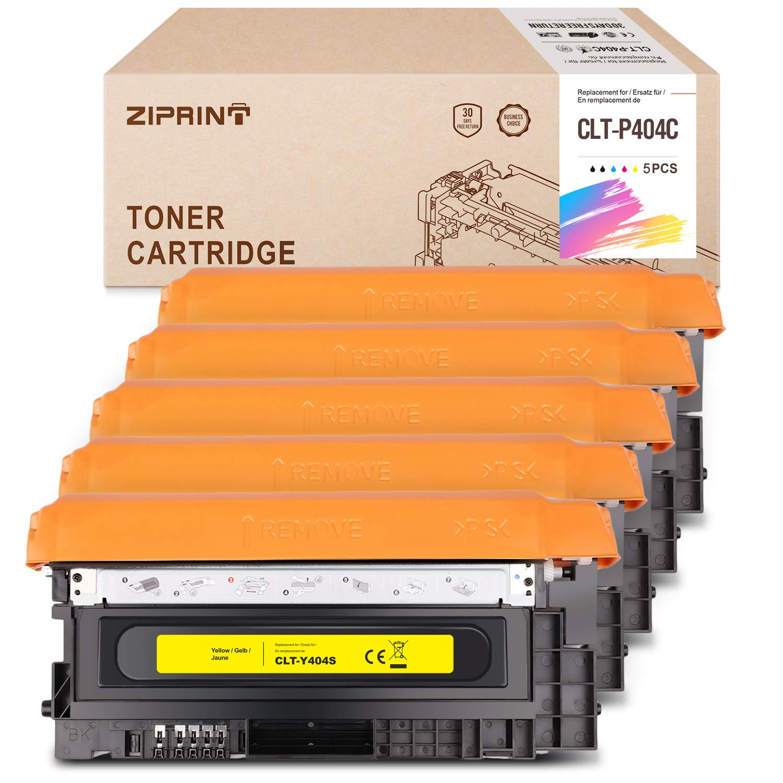 ZIPRINT 4 Multipack Toner Compatible Samsung CLT-404C Samsung CLT-K404S CLT-C404S CLT-M404S CLT-Y404S para Samsung Xpress C430 C430W C480 C480W C480FN ...