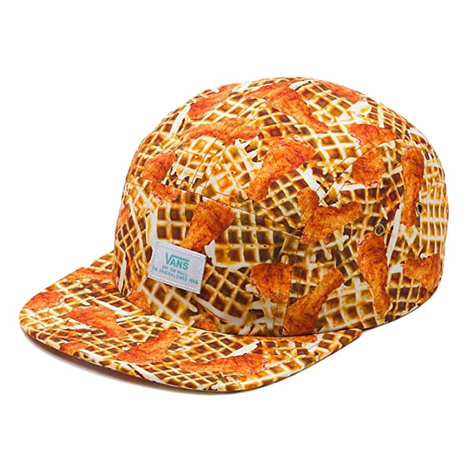fd3e17b00b77a Vans Off The Wall Men's Brunch Hat Cap - Chicken & Waffles at Amazon Men's  Clothing store: