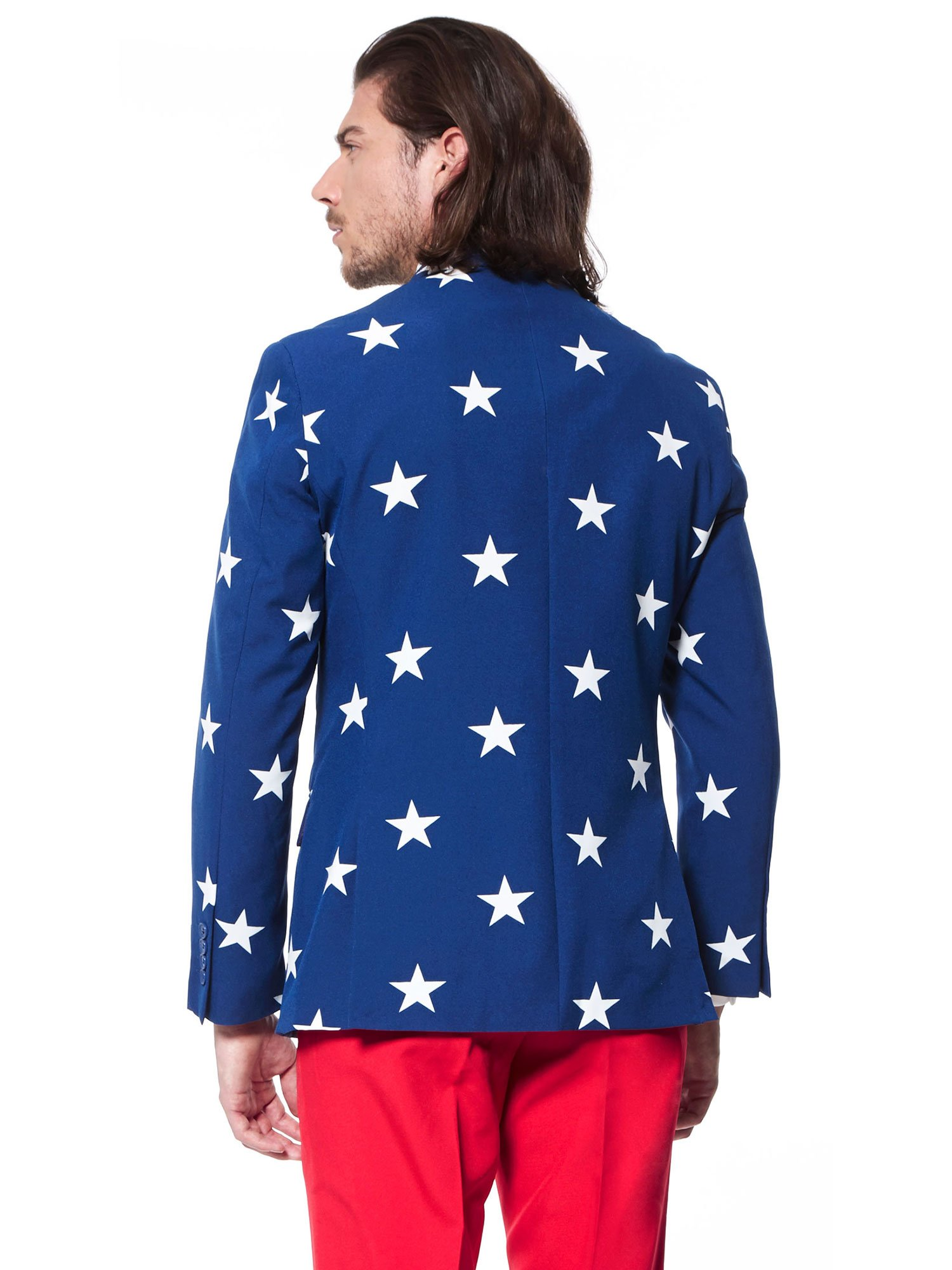 Opposuits Fancy Colored Suit For Men Now With Free Prom King and Prom Queen Sash,Stars and Stripes,US40 by Opposuits (Image #2)