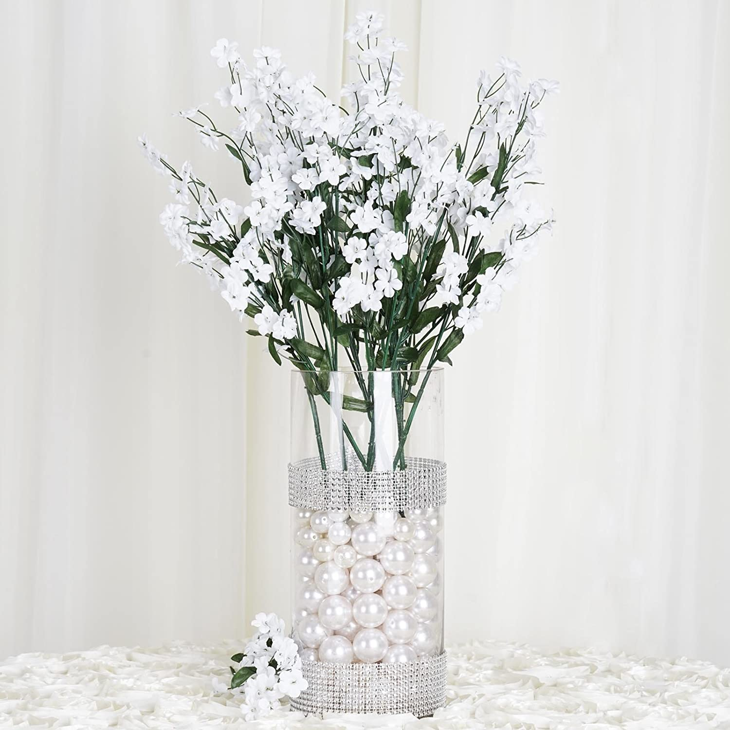 Amazon efavormart 12 bushes baby breath artificial filler amazon efavormart 12 bushes baby breath artificial filler flowers for diy wedding bouquets centerpieces party home decoration white home kitchen izmirmasajfo