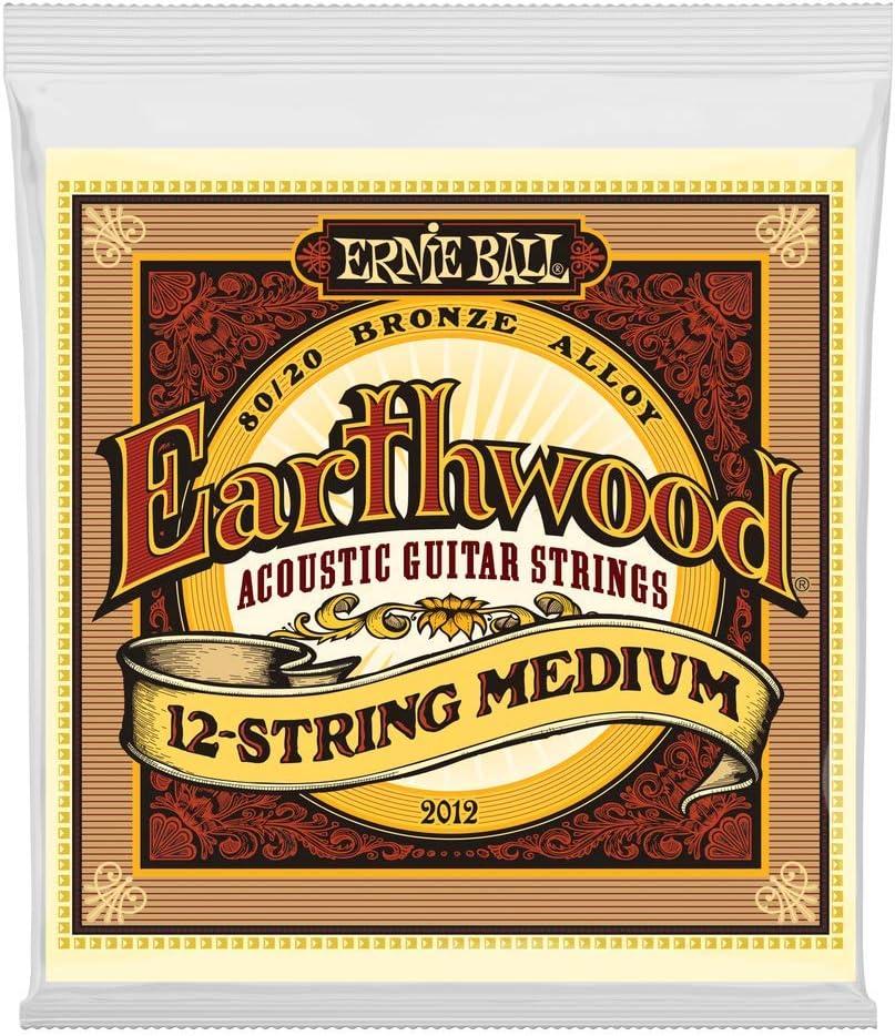 Cuerdas para guitarra acústica de 12 cuerdas 80/20 Ernie Ball Earthwood Medium - Calibre 11-28