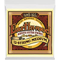 Ernie Ball Earthwood - Juego acústico de 12 cuerdas, color bronce 80/20, .011 - .052