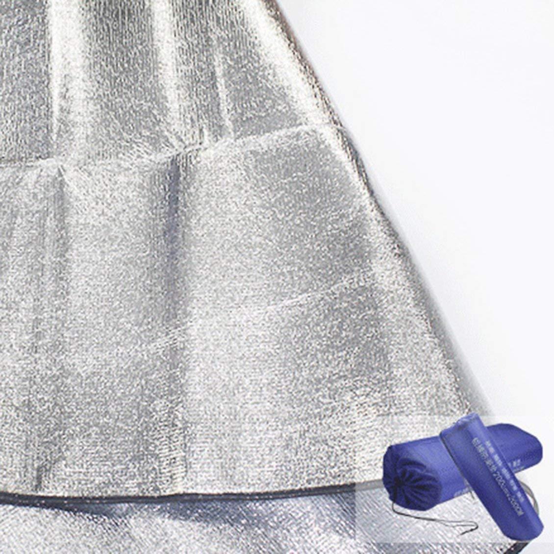 Argent PGIGE Tapis de Tente de Camping en Film daluminium Double Face Eva r/ésistant /à lhumidit/é