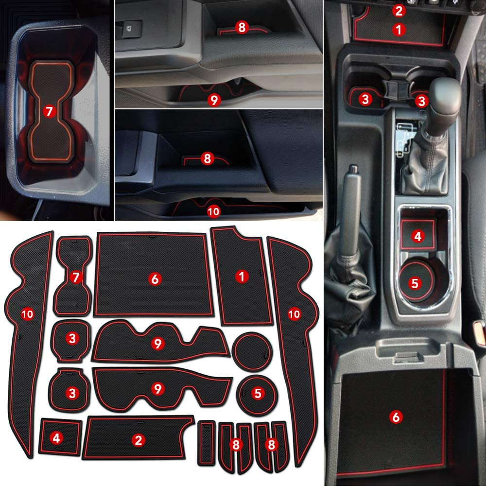 AndyGo Custom Fit Cup Door Center Console Liner Accessories fit for Toyota Tundra 2020 2019 2018 2017 2016 2015 2014 23PC Set