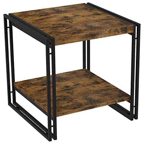 IRONCK End Tables with Storage Shelf, Side Table for Living Room Bedroom Nightstand, 1.58 Thicker Board, Industrial Home Furniture, Easy Assembly