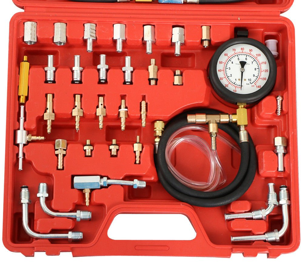 PMD Products Manometer Fuel Injection Pressure Tester Gauge Kit System w/Schrader Valve Fittings 0-140 psi by PMD Products (Image #4)