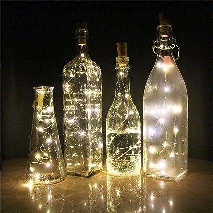 eVmu Set de 6 botellas de vino blanco cálido de corcho - 59 pulgadas / 150