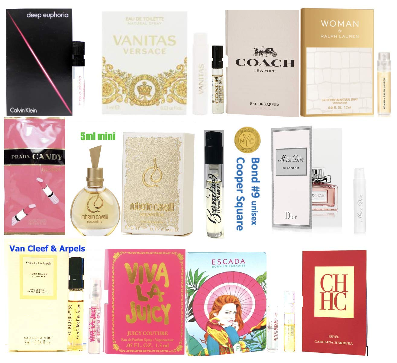 89ba813a0 Amazon.com : Women's Designer Perfume Samples Set of 12 : Beauty