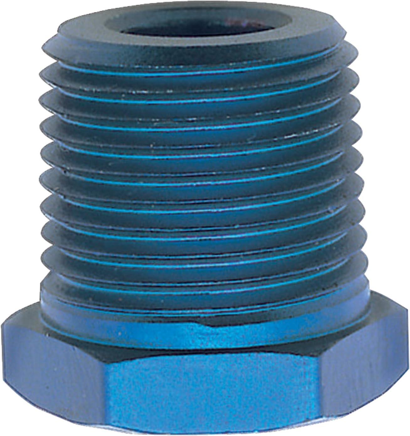 "Russell Pipe Fitting 661580; NPT Reducer Bushing Blue 1//2/"" NPT x 3//8/"" NPT Female"