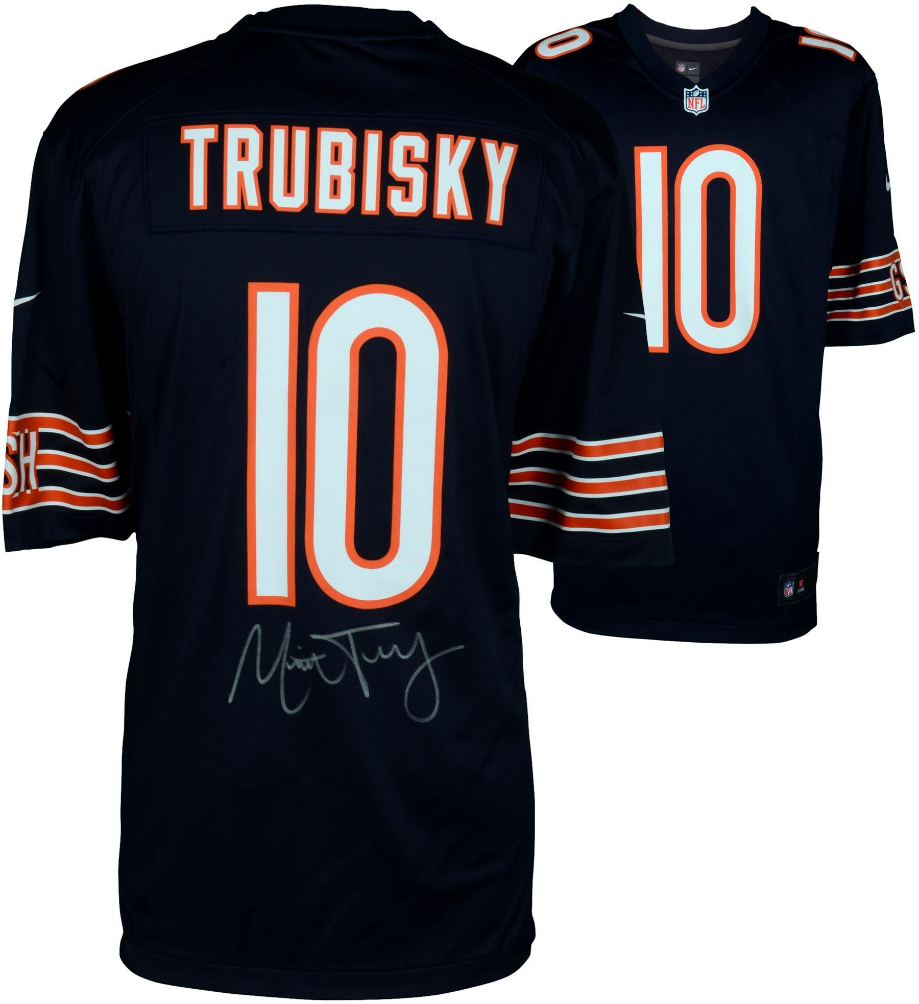 Mitchell Trubisky Chicago Bears Autographed Nike Navy Game Jersey Fanatics Authentic Certified Autographed NFL Jerseys