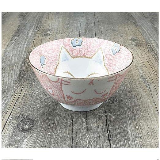 16LYP Tazón de cerámica Plato Placa Linda Creativa Cereal de arroz ...