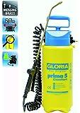 Gloria spruzzatore a pressione prima 5 Comfort con tubo flessibile a spirale innesto per compressore, giallo