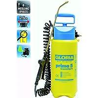 Gloria Drucksprüher Drucksprühgerät Prima5 Comfort mit 2,5m Spiralschlauch und Kompressoranschluss, gelb