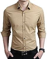 Romano Men's Full Sleeve Casual Beige Shirt