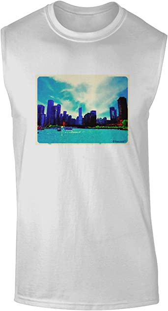 TooLoud Chicago Skyline Watercolor Toddler T-Shirt