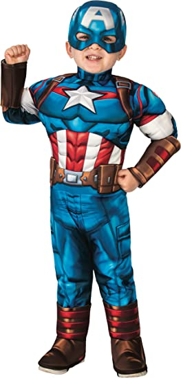 Amazon Com Rubie S Baby Boys Marvel Super Hero Adventures Deluxe Infant And Toddler Costumes Captain America Toddler Us Clothing Marvel carol danvers cosplay costume upgrade(no mask). toddler captain america costume