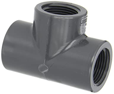 Spears 805 Series Pvc Pipe Fitting Tee Schedule 80 1 Npt Female