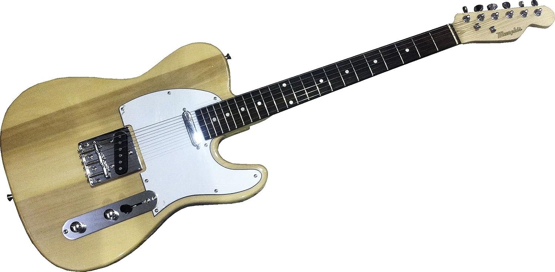 Memphis E20N - Guitarra Eléctrica estilo Telecaster, color Natural: Amazon.es: Instrumentos musicales