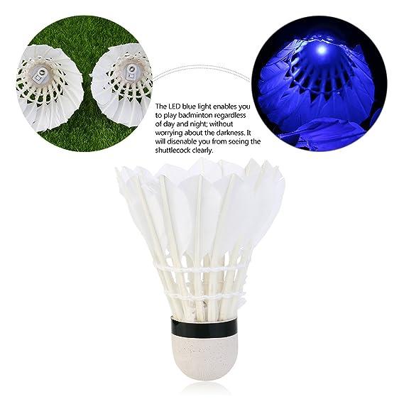 Itian 4pcs LED Leuchten Badminton per Attivit/à Sportive Interno /& Esterno