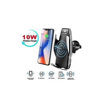 Cargador inalámbrico para coche, soporte para teléfono móvil ...