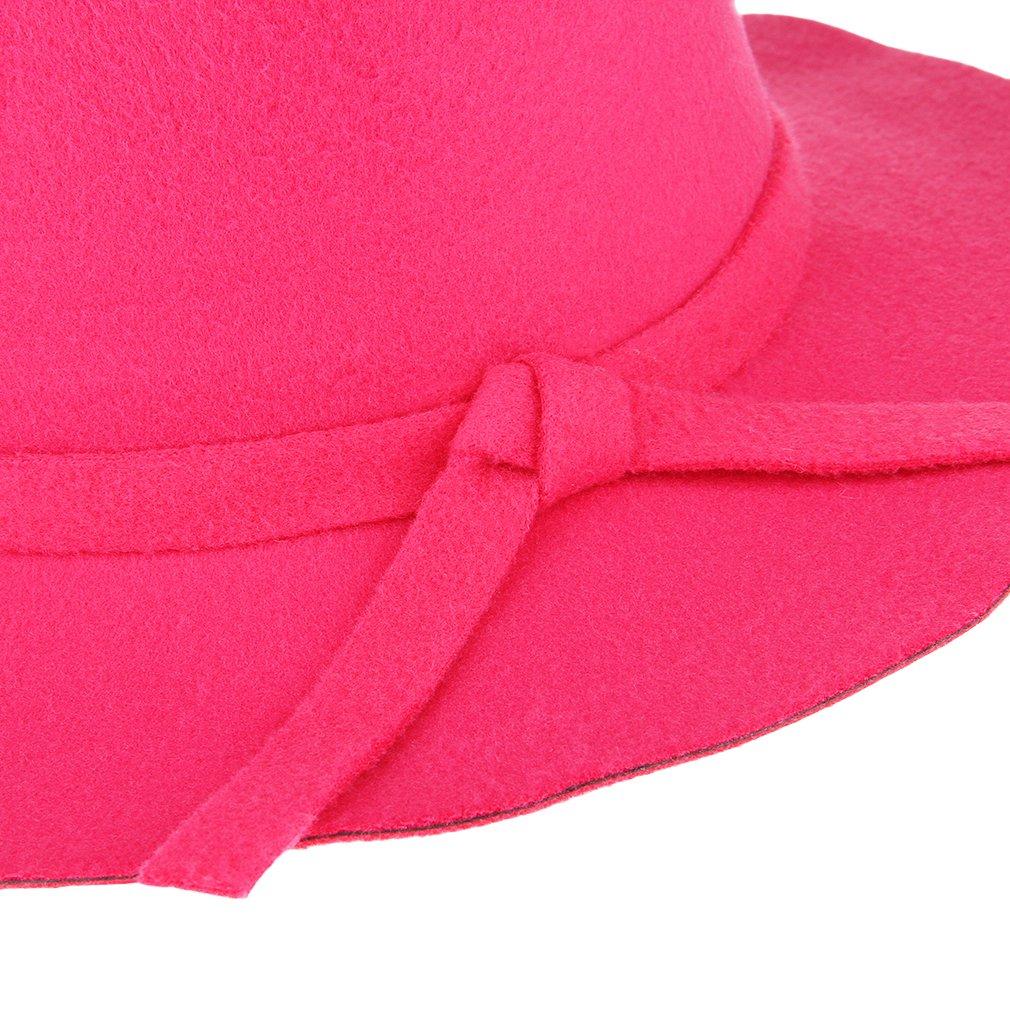 La Vogue Girls Kids Retro Wool Wide Beach Brim Soft Felt Floppy Hat Cap