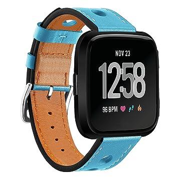 TopTen Fitbit Versa Correa de reloj ajustable, correa de ...