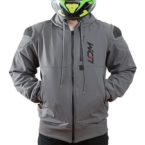 LDM ExoFlex Chaqueta Moto Impermeable con Armadura Hombros y ...