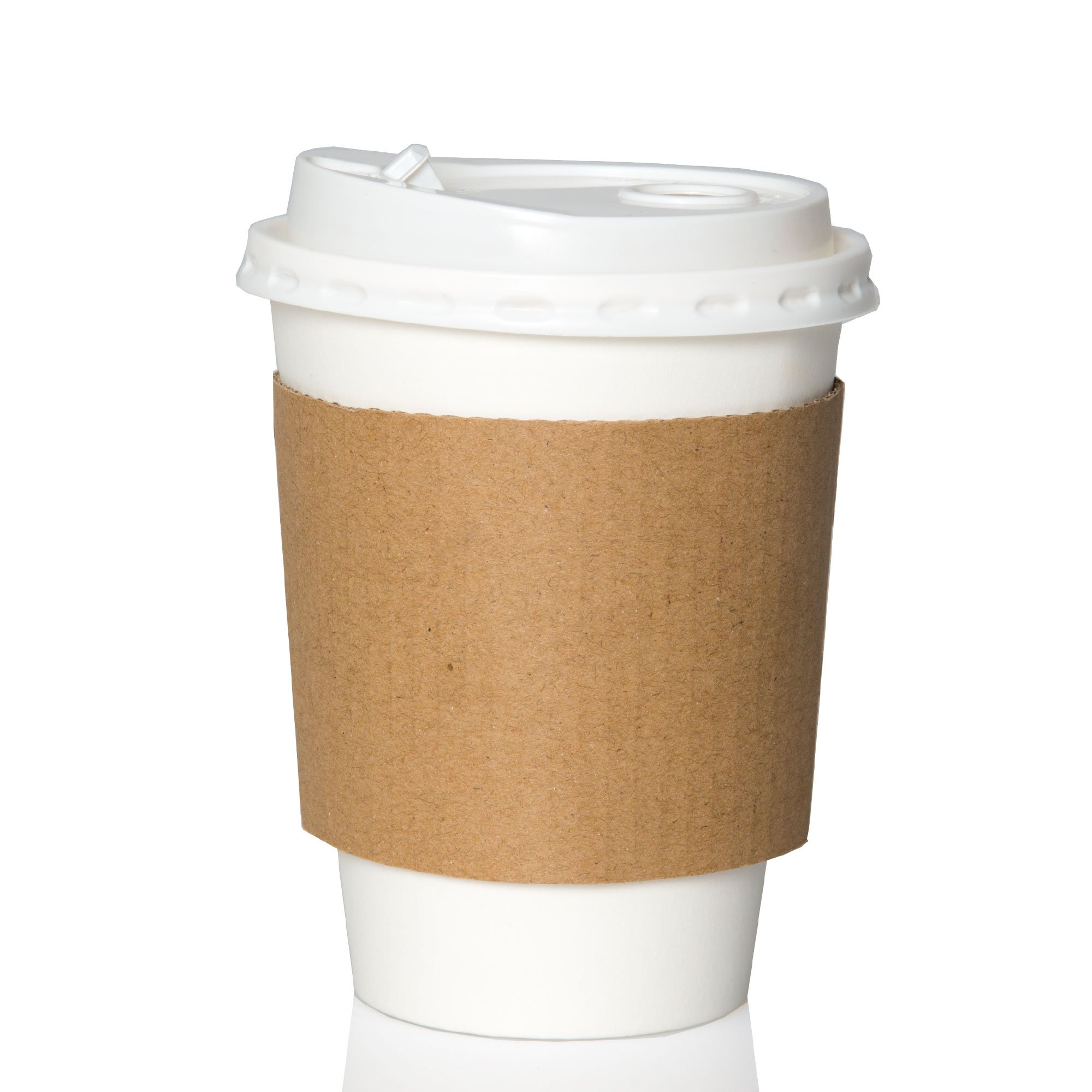 50 Pack 12 Oz To Go Coffee Cups With Sleeves Lids Disposable Recyclab