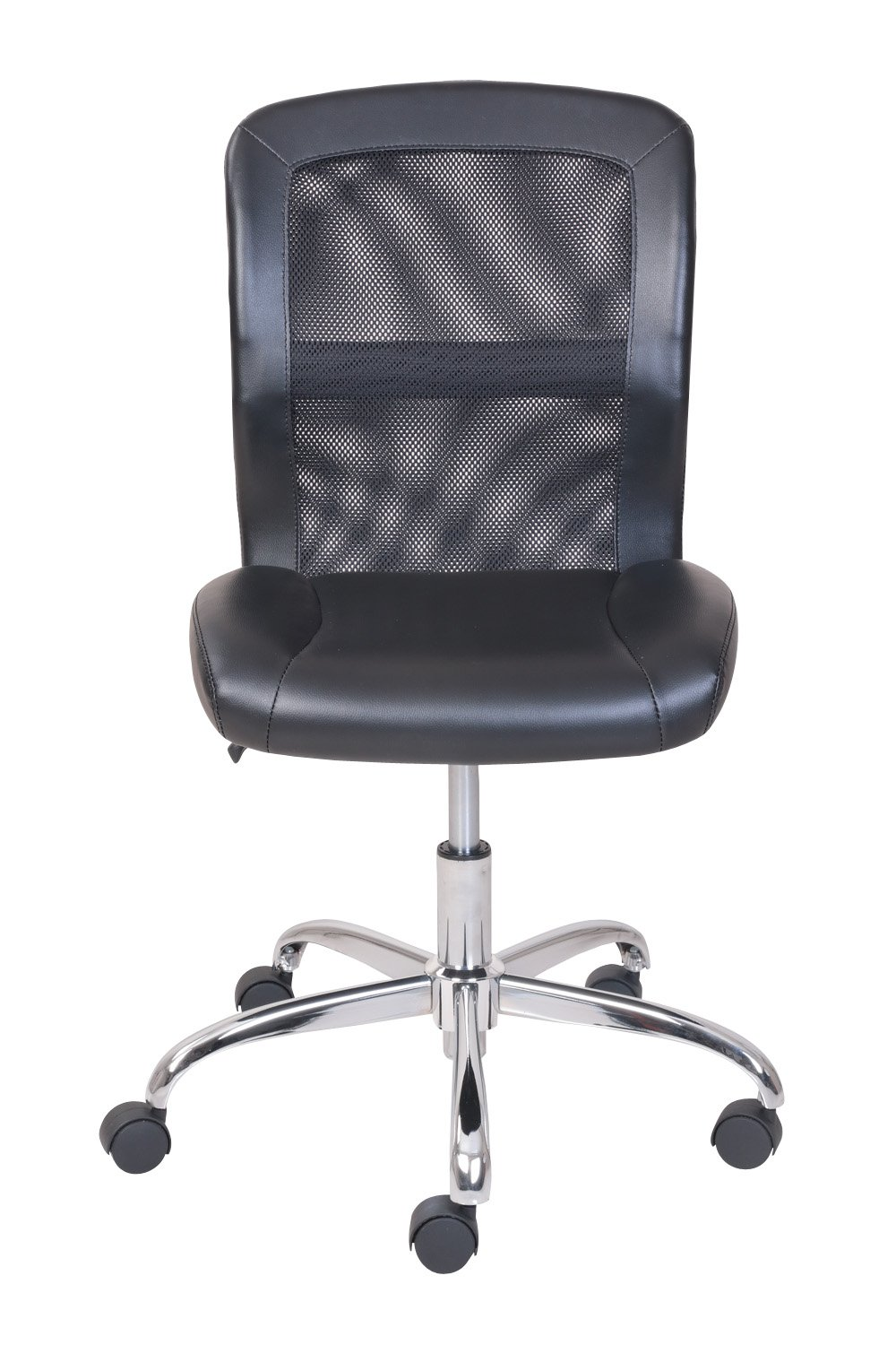 Comfortable Vinyl and Mesh Task Chair with Durable Metal Base, One-Touch Pneumatic Height Adjustment, Padded Seat and Back for Comfort + Expert Home Guide by Love US by LOVE US (Image #5)