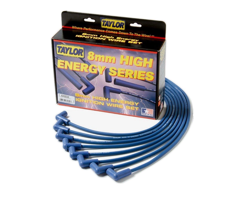 Taylor Cable 64603 Blue 8mm High Energy Spark Plug Custom Wire Set