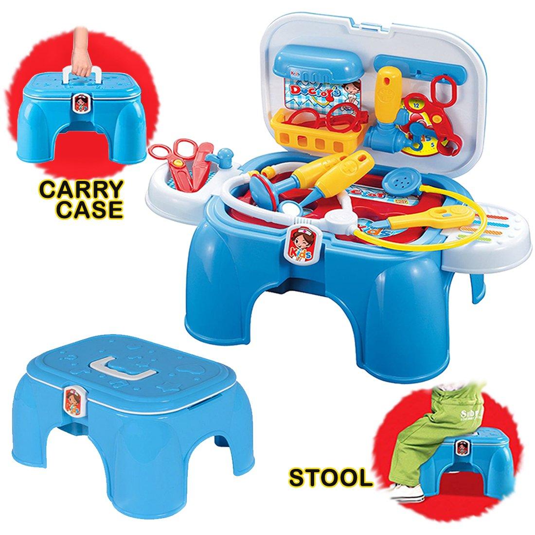deAO Doctors Medical herramientas Kit de primeros auxilios Playset práctica palos y