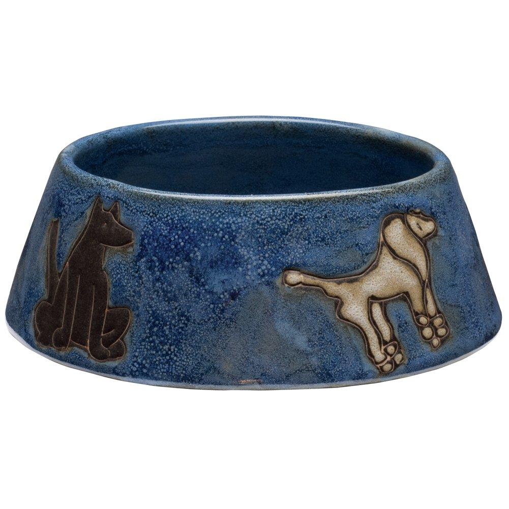 Animal World - Dogs Playing Medium Blue Doggie Dish by Animal World