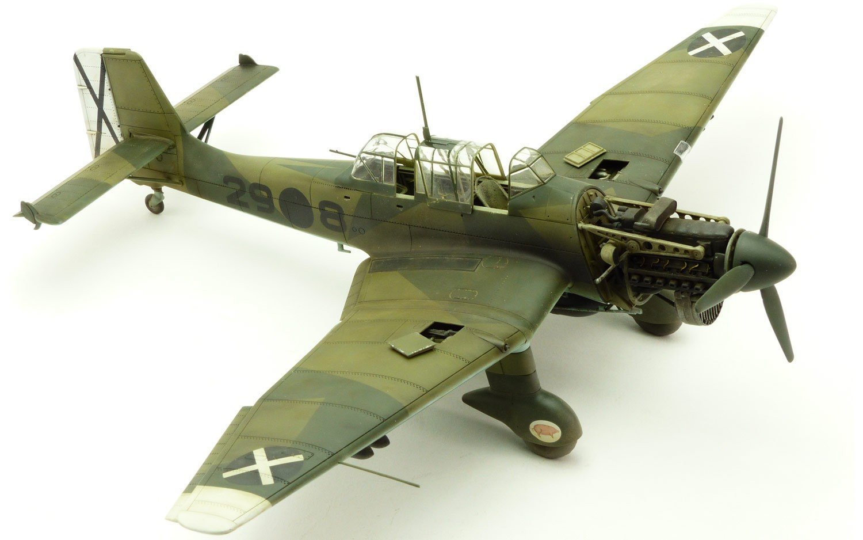 Airfix- Kit de modelismo, avión Junkers Ju87B Stuka (Hornby A07114)
