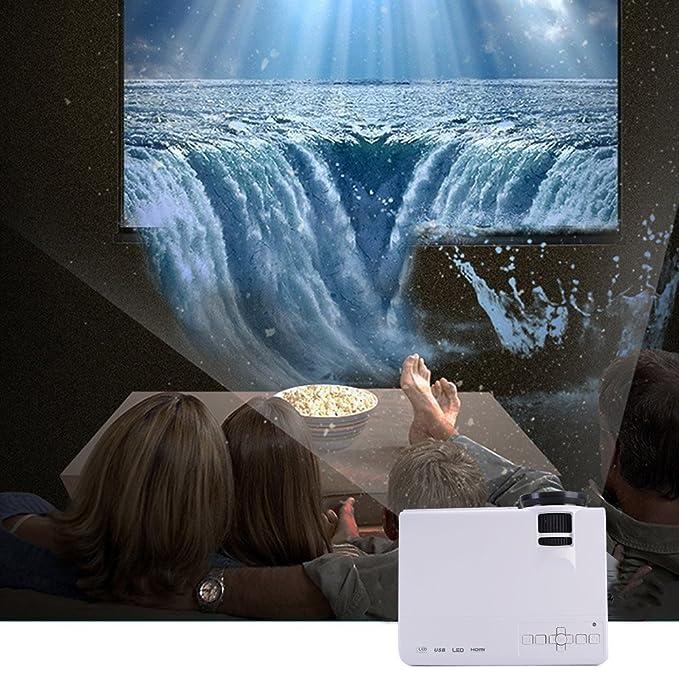 Mini Proyector Portátil Videoproyector - Maxesla LCD Proyectores Soporta 1080P Full HD, Multimedia Cine en Casa con USB SD HDMI VGA AV, LED Beamer ...
