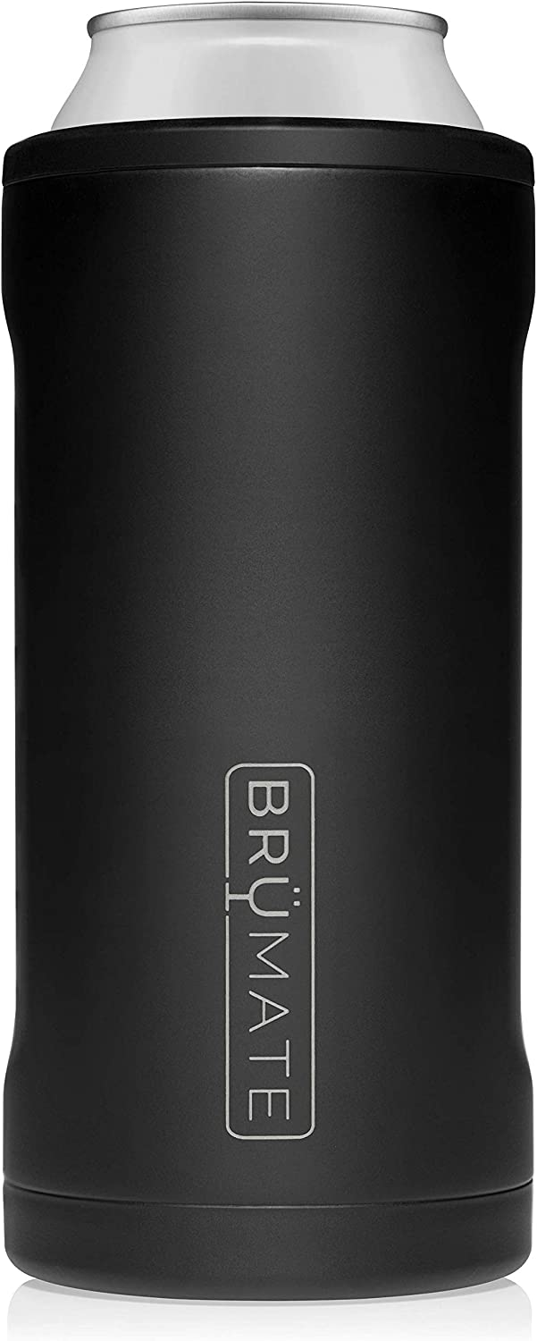 BrüMate Hopsulator Juggernaut Double-walled Stainless Steel Insulated Can Cooler For 24 Oz And 25 Oz Cans… (Matte Black)