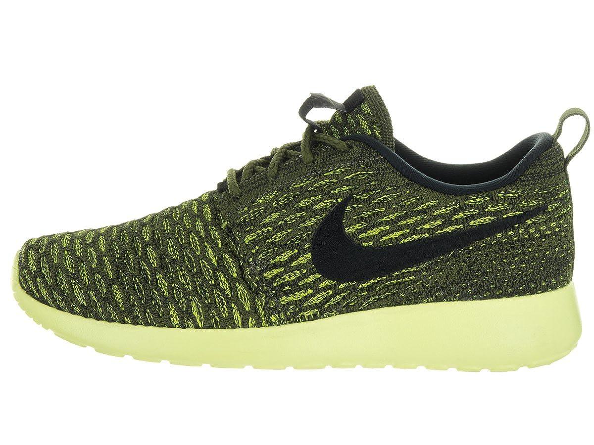 c69a8e785151 Nike Women s Roshe One Flyknit Rough Green Blck VLT Lt Lqd Lm Running Shoe  5. 5 Women US  Amazon.in  Shoes   Handbags