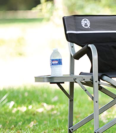Coleman Camp Chair with Side Table Folding Beach Chair Portable Deck Chair for Tailgating, Camping Outdoors
