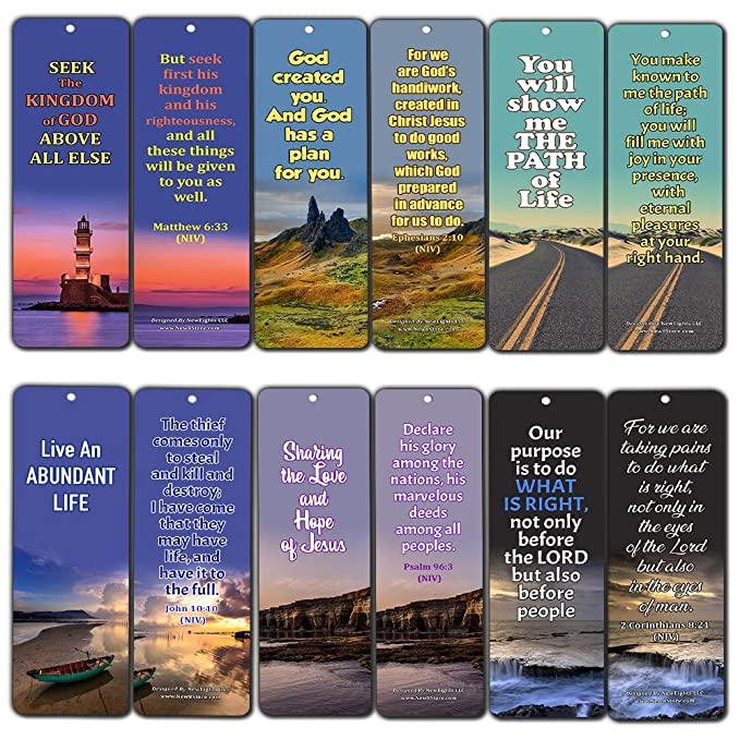 Amazon com : Bible Verses About Life Purpose (30 Pack