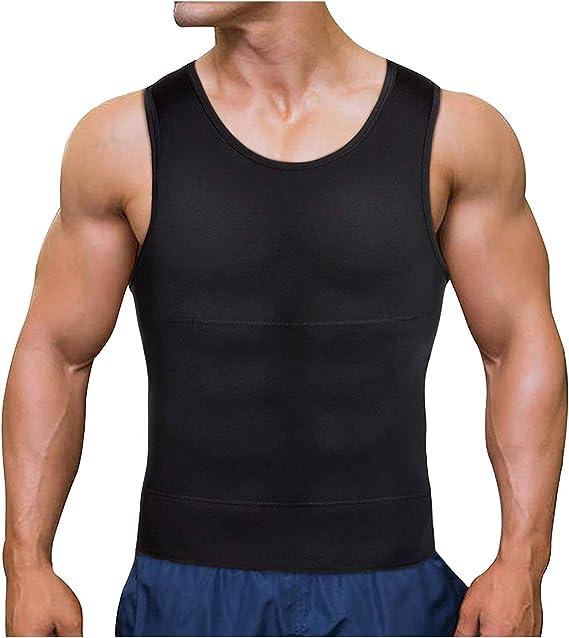 Chumian - Camiseta Interior de compresión para Hombre, para Hacer Ejercicio, IR por el Vientre, Hacer Ejercicio, moldear la Figura, para Quitar el Cuerpo: Amazon.es: Ropa y accesorios
