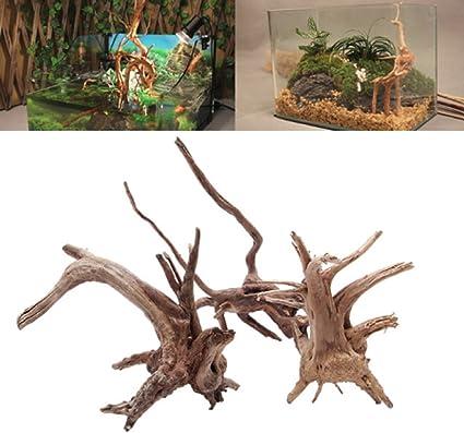 High Quality Fish Tank Driftwood Natural Wood Trunk Aquarium Decor Plants New CA