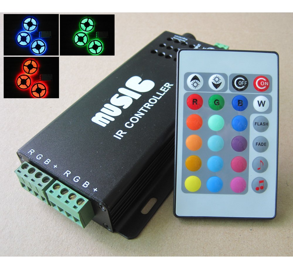 Rgb Sound Activated Controller For Colour Changing Led Strip Lights 3 Watt Color Mixer Circuit Making Use Of Ic Lm317 Changes To The Music Them Ideal Disco Partys