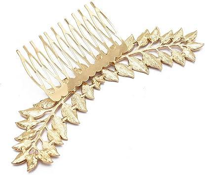 NUOVO Cerchietto Oro foglia in metallo