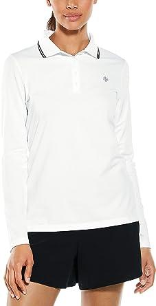 Coolibar UPF 50+ Birdie Golf Polo de Manga Larga para Mujer ...