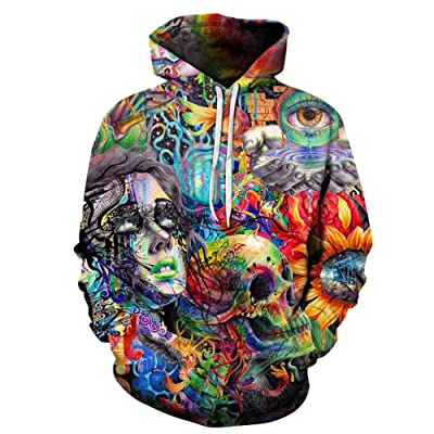 577Loby 3D Skull Printed Hoodies Men Women Sweatshirts Hooded Pullover Tracksuits Boy Coats Fashion Outwear