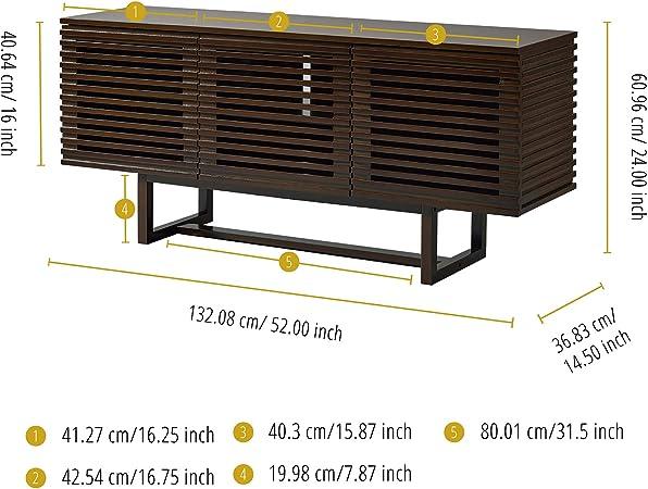 Versanora Aparador de Madera para Mueble de TV, Noyer/Métal Brun Foncé, 132.08x132.08x60.96: Amazon.es: Juguetes y juegos