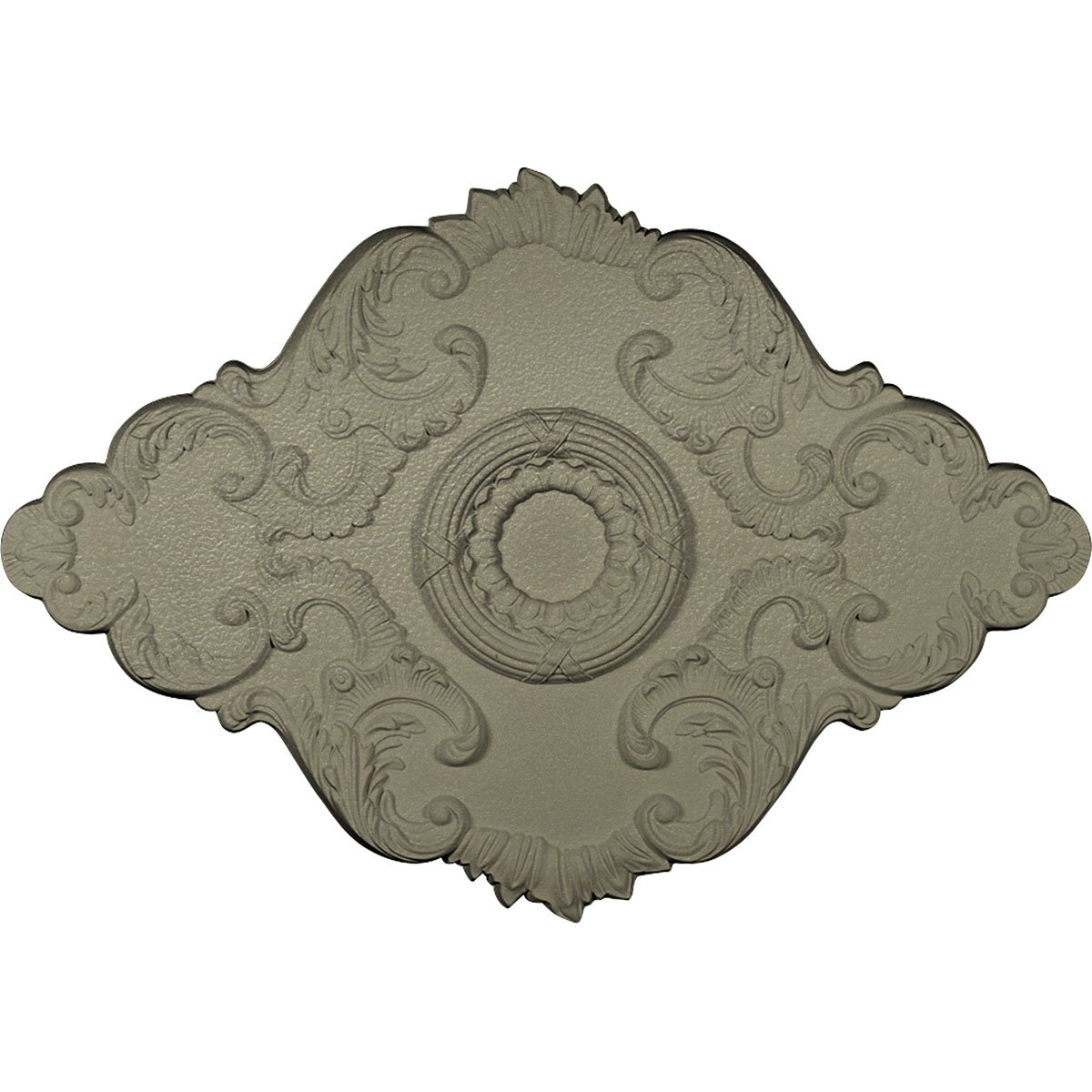 Ekena Millwork CM36X26PESSF 36'' W x 26'' H x 1 1/2'' P Pesaro Ceiling Medallion, Hand-Painted, Spartan Stone