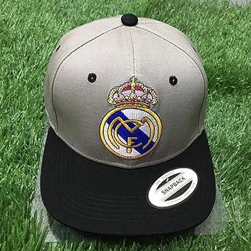 WEII Fanáticos del Equipo de fútbol Europeo Sombreros de Regalo Gorras de béisbol Casuales Sunhats al Aire Libre,Real Madrid Gri,Un tamaño: Amazon.es: ...