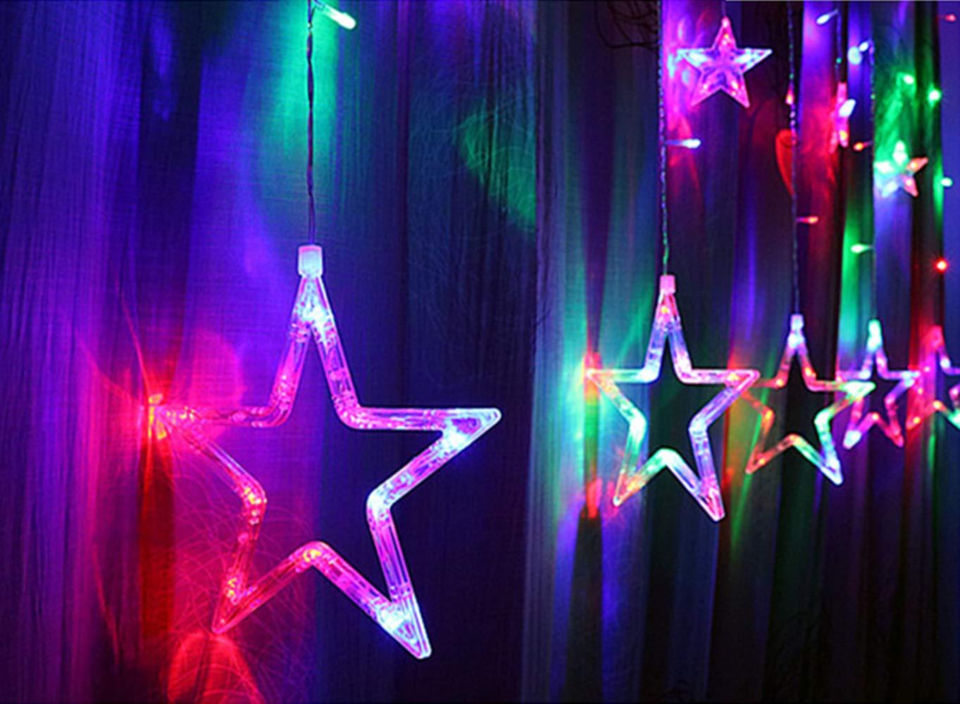exquileg lichterkette sterne led stern led lichterkettel sterne 138 sternen f r party. Black Bedroom Furniture Sets. Home Design Ideas