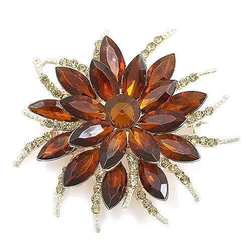 75178c231 Amazon.com: Feroni Beautiful Assorted Colors Crystal Daisy Flower ...