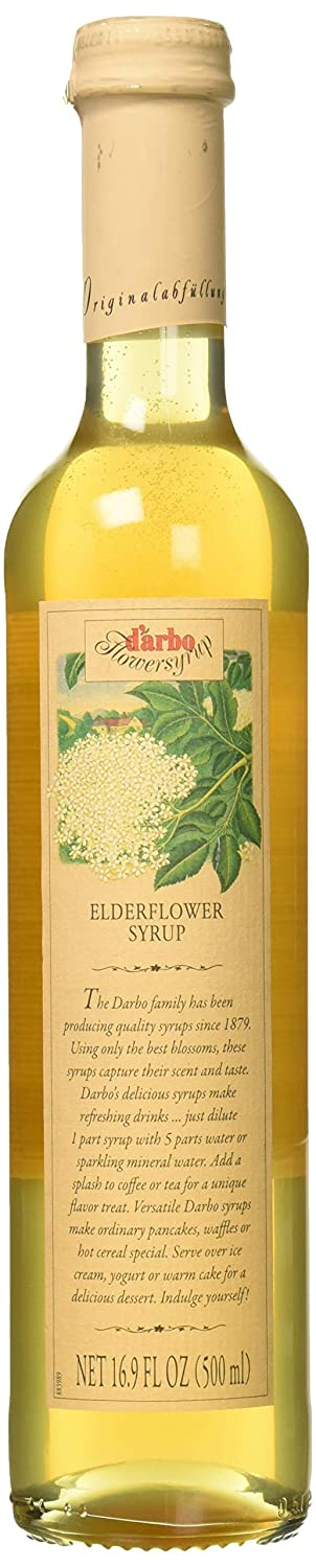 d'arbo All Natural Elderflower Syrup, 16.9 Ounce